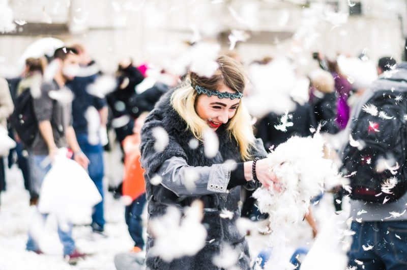 when is international pillow fight day