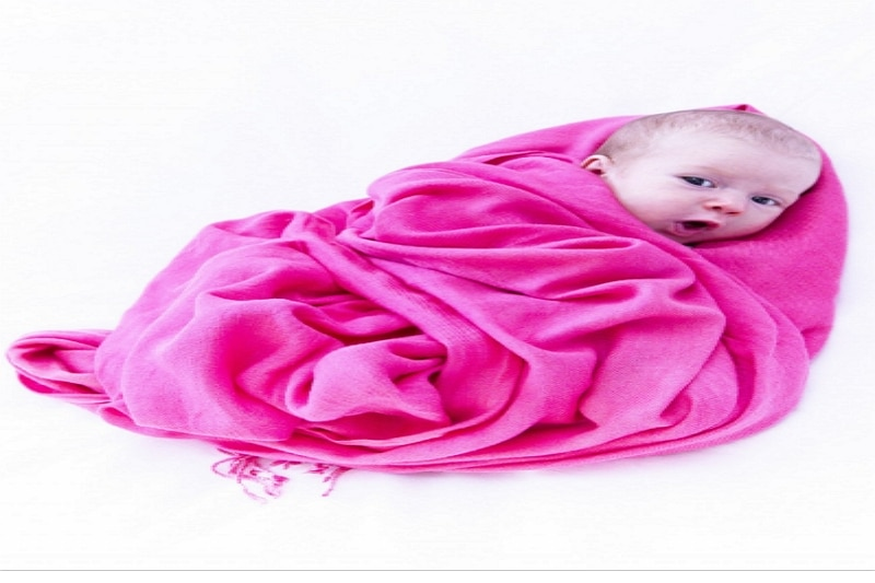 draw a baby wrapped in a blanket