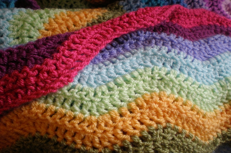 how to block a large crochet blanket