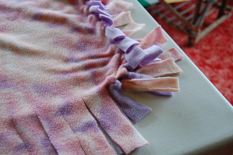how to wash a fleece tie blanket