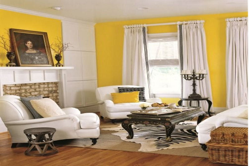 What color curtains go with yellow walls|yellow walls what color curtains