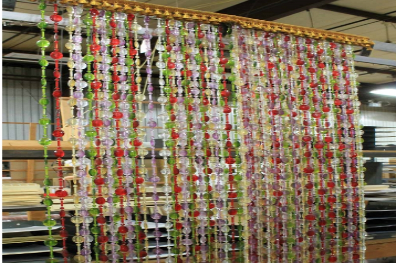 How to hang beaded curtains