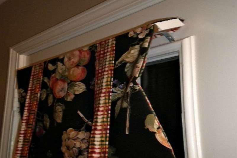 How to Hang Curtains on a Metal Door