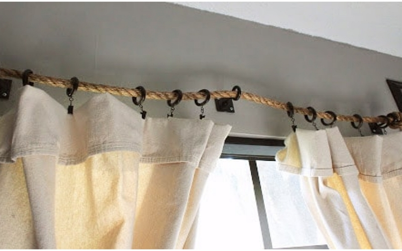 how to hang curtains without rods
