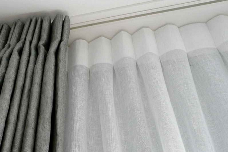 How to layer curtains