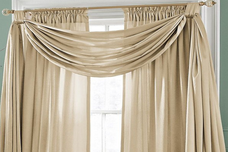 How to Drape Scarf Curtains