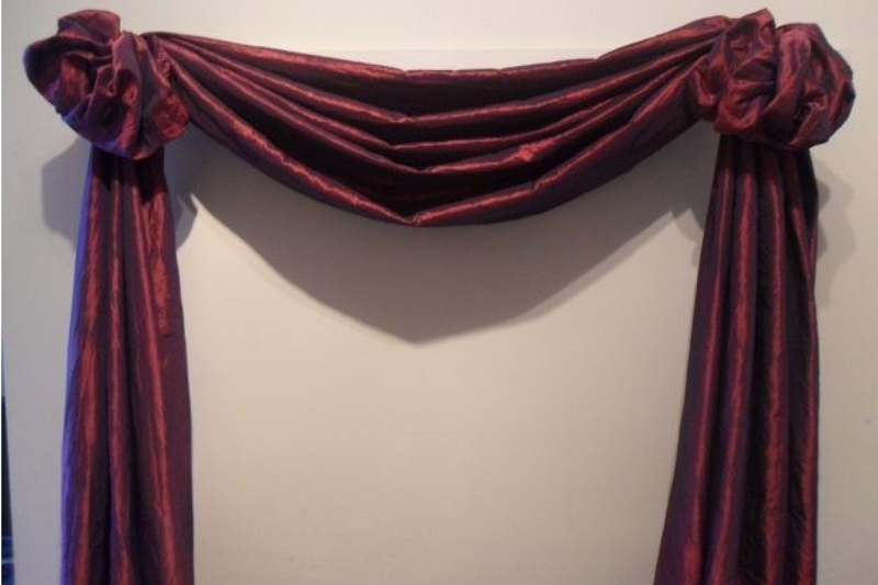 How to make scarf curtains