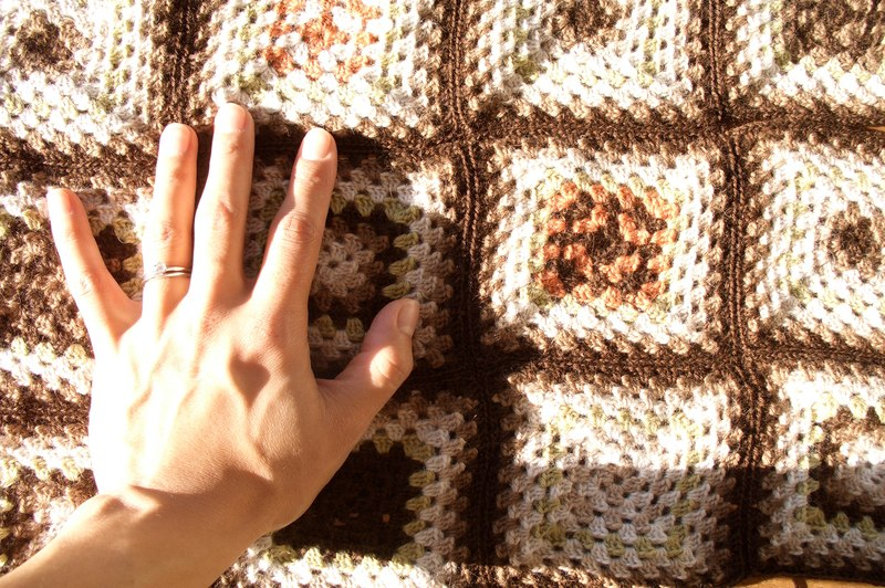 how to block a baby blanket