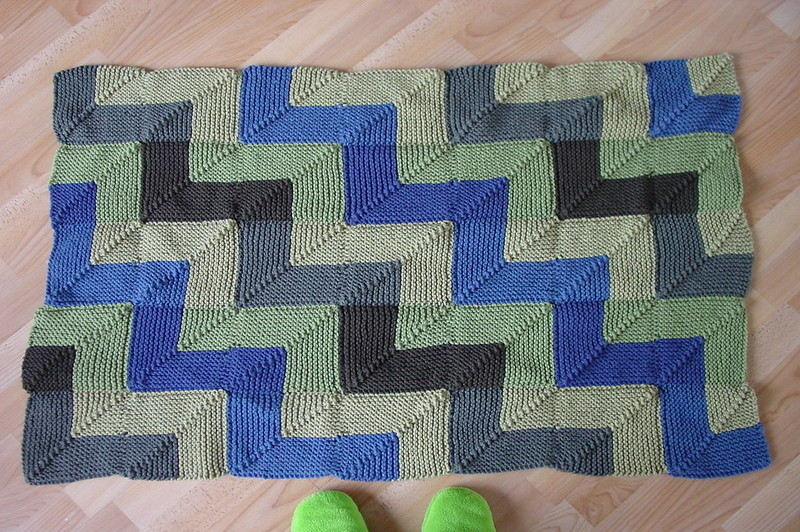 how to knit a border on a finished blanket