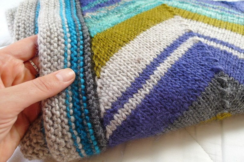 how to knit a chevron blanket