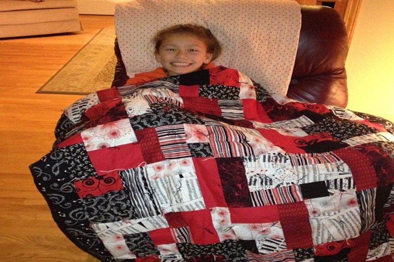 how to make a minky blanket with binding