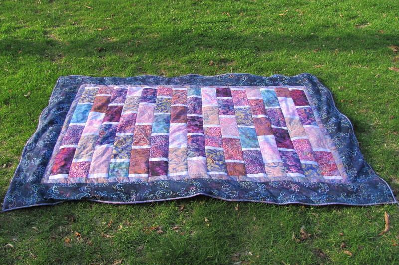 how to sew blanket binding on fleece